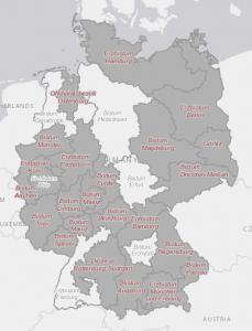 Bistum Trier Karte.Karten Bistumsatlas